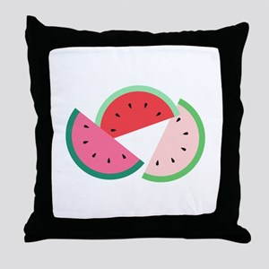 Watermelon Slices Throw Pillow